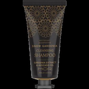 mor snow gardeina 35ml shampoo tube